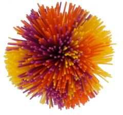 Koosh bold - lille nuldrebold 6 cm. 14-538