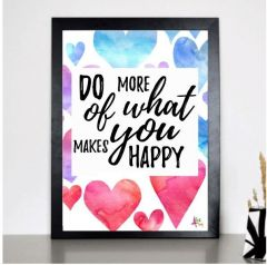 Plakat - Do what makes you happy plakat 99-5678