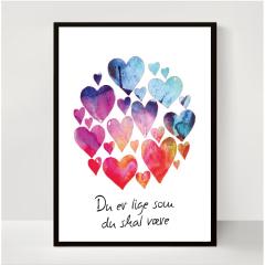 ABC Leg - Du er lige som du skal være lilla plakat - 30 x 40 cm 4503L
