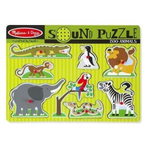 Melissa and Doug - Puslespil med lyd – Zoologisk have 7-10727