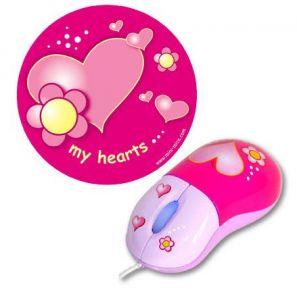 ABC Leg - Børnemus og musemåtte - Små hjerter 99-545