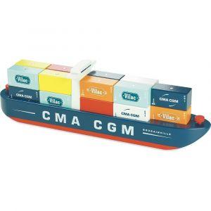 Vilac - magnetisk containerskib i træ 2356