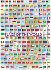 Plakat: Flags of the world - Str. 60x90 cm. 11-2450-0128