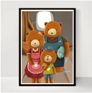 ABC Leg - Plakat med Guldlok og bjørnene 99-3993