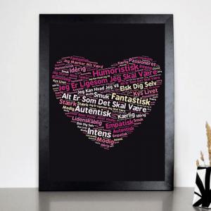 ABC Leg - Hjerte plakat til voksne - 30 x 40 cm 4335
