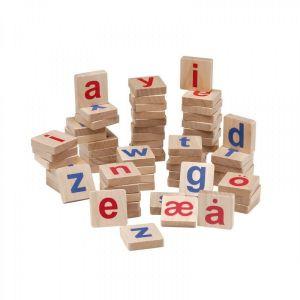 Krea magnetiske bogstaver i træ små 89-257a