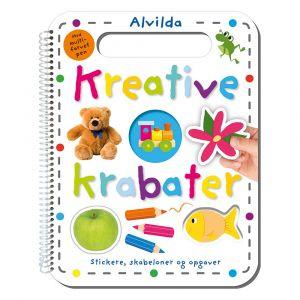 Kreative krabater - Stickere, skabeloner og opgaver 9788741509815