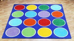 Legetæppe regnbue cirkler 60-MAT1020