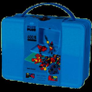 Plus Plus Basis - Kuffert i metal med brikker - blå 2-7002