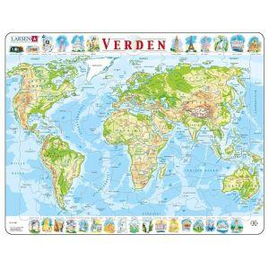 Larsen Puslespil - Verdenskort 47-LA22104